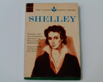 "Shelley - The Laurel Poetry Series - ""Ode to the West Wind"" - Dell 1964 Second Printing - Richard Wilbur - Vintage Paperback Poetry Book"