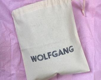 Personalised Toy bag, Custom Cotton bag, Gift bag, toy sack, natural cotton drawstring storage bag, kids stylish storage