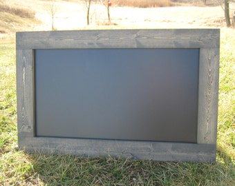 Weathered grey chalkboard extra large hanging chalk board home office black board message center blackboard