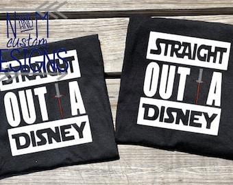Disney Family shirts, Star Wars Shirts,Disney shirts,Straight Outta Disney Shirt, Disney World, Disneyland,Family vacation shirts