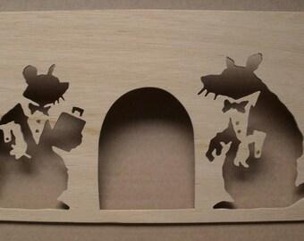 Banksy Rat Doormen Stencil