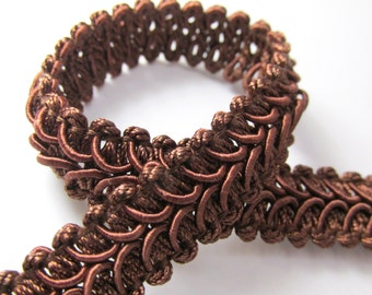 Chocolate Brown 1/2 inch Raised Heavy Gimp Decorator or Upholstery Trim