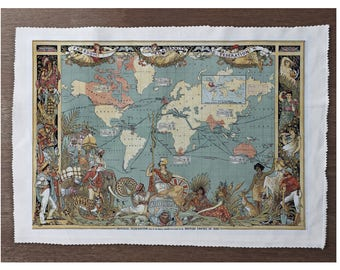 World map fabric etsy world map sewing cushion upholstery craft patchwork and quilting fabric panel gumiabroncs Choice Image