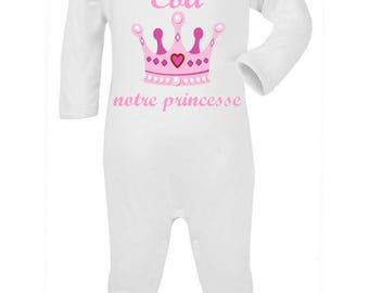 Our Princess personalized with name baby pajamas