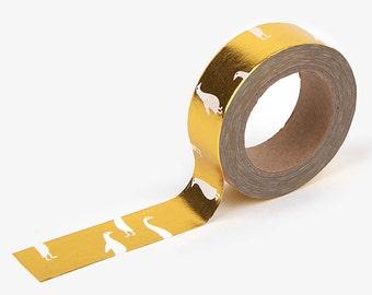 Goose : gold   DailyLike Korean Washi Tape Craft Supplies (DMT1S48)