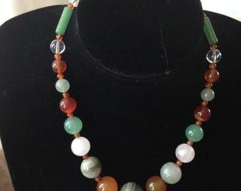 Vintage Agate Bead Necklace [SKU66]
