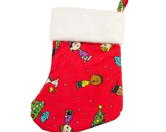 Peanuts Crimson Christmas Stocking (with or without personalization)