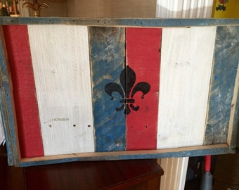 Wall art refurbished pallet pieces