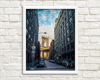 New York photography, New York printable photography, Brooklyn photography, Manhattan bridge, Brooklyn wall art, instant download printable