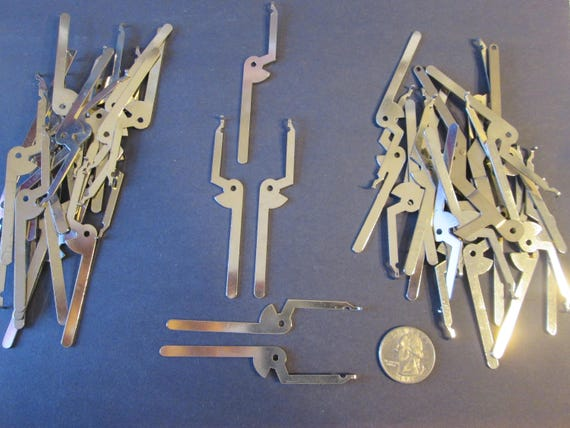 """44 New Chrome Clock Frame Brackets 3 3/8"""" - Great for Steampunk Art, Jewelry Making, Crafts and etc..."""