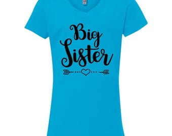 Big Sister Youth Shirt - Big Sister Gift, Big Sis Shirt, Big Sister Tshirt, Big Sister T Shirt, Big Sister T-Shirt, Big Sister Vneck, Kids
