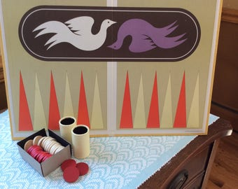 Vintage Backgammon set, Selchow and Righter Company