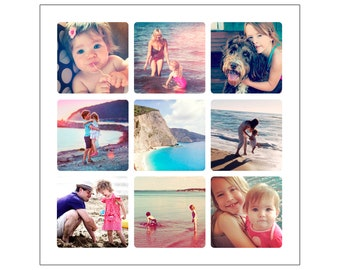 Personalised Photo Collage Canvas Or Print Digital File