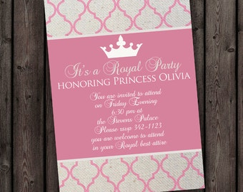 Royal invitation Etsy