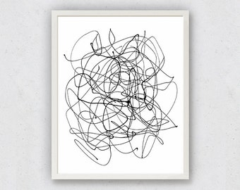 Abstract Line Print, Minimalist Art Print, Black White Prints, Modern Minimalist, Minimalist Painting, Printable Modern Art, Modern Wall Art