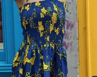 African Dress - Fatou Dress - Summer dress - African Wax Print - Ankara Dress - Festival Clothing - Dashiki dress