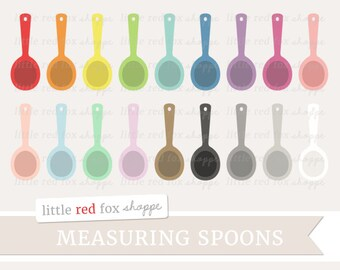Measuring Spoon Clipart, Baking Clip Art Kitchen Cooking Dinner Chef Bakery Food Icon Cute Digital Graphic Design Small Commercial Use