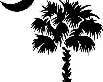 South Carolina Sabal palm vinyl decal