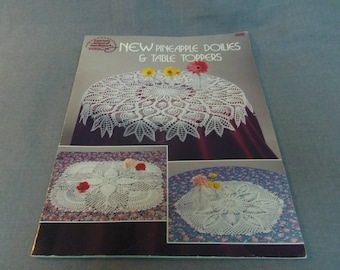 Crochet Patterns, New Pineapple Doilies and Table Toppers, Rita Weiss, Thread Crochet 6 Designs, 1989