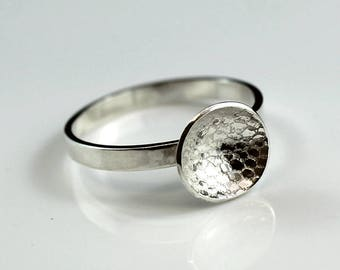 Domed Patterned Ring