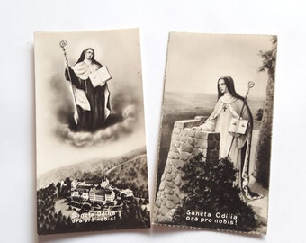 St Odile - Antique Religious Holy Cards