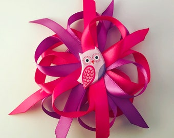 Owl, Hair Clip, Hair Bow, Hair Accessories, Pink, Purple