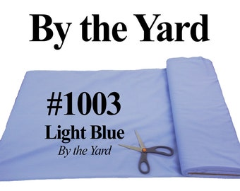 """45"""" Blue Broadcloth Fabric - By The Yard"""