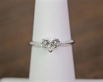 Heart shaped diamond ring