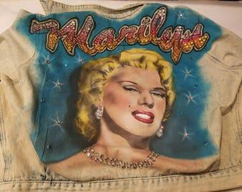 1980s Marilyn Monroe Jean Jacket