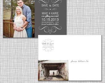 Save the Date PSD Template for photographers