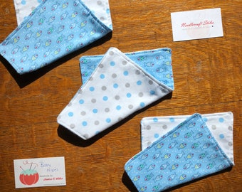 Limited Stock Fish Baby Wipe Set (3) |  Baby Boy | Shower Gift | Snuggle Flannel