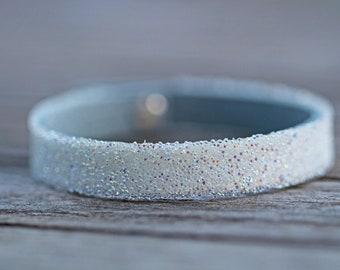 Swarovski Crystal AB leather cuff riveted birthday gift mother's day friendship bracelet