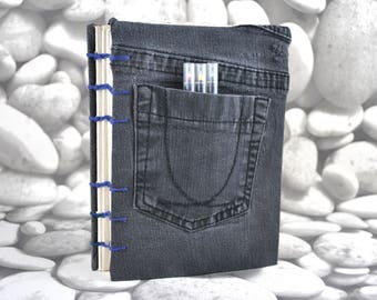 Coptic Stitch Jean Notebook Journal