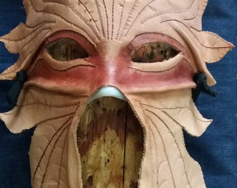 "Leather Mask ""Greenman"""