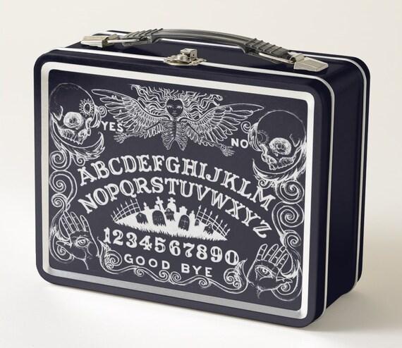 Ouija Board Black Metal Lunchbox
