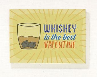 Anti Valentine Card, Single Valentine, Break up Valentine, funny valentine, southern valentine, whiskey love, card for him, card for her
