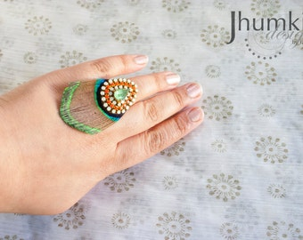 Mayur Nayana /// Statement Ring by Jhumki - designs by raindrops