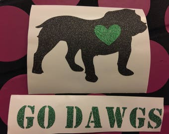 Bulldog, Bulldog Decal, Dog Decal, Decal, Cup Decal, Yeti Cup Decal, Car Decal, Laptop Decal