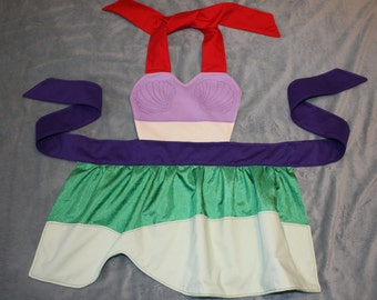 The Little Mermaid Ariel Inspired Dress Up Apron