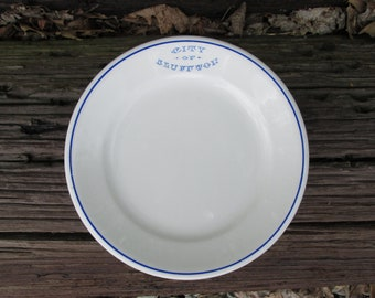City of Bluffton Indiana Plate KT and K China Restaurant Ware