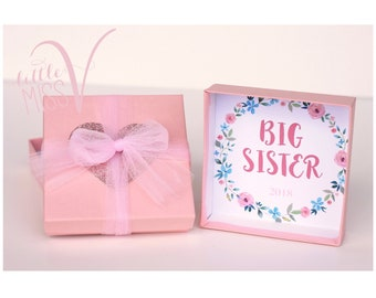 Big sister gift packaging add on. Big sister gift. New sister gift. Personalized gift. Shower gift.