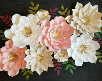 Set of 8 Paper Flowers Nursery/Party/Event Decor