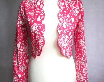 Vintage Laura Ashley Bolero, Floral Cropped Jacket, Party Outfit, Wedding