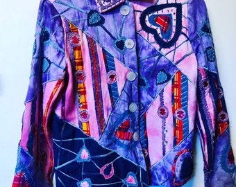 Hippy Dyed Patchwork Jacket