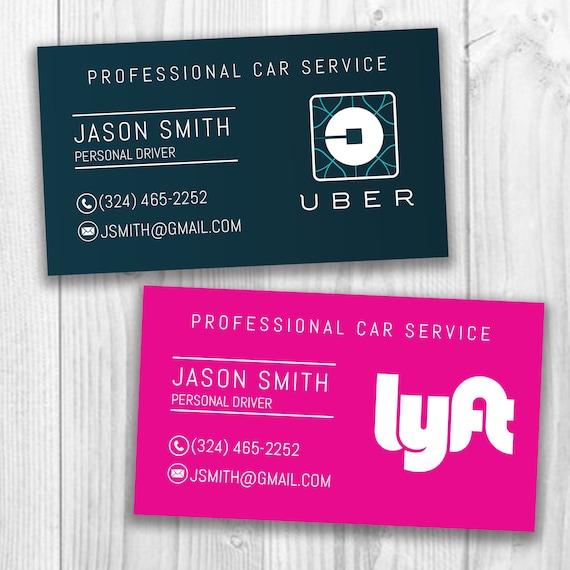 UberLyft Business Cards Uber Eats Social Media Cards