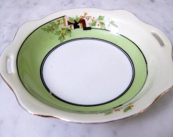 Vintage Handpainted Noritake Japan Midcentury Green