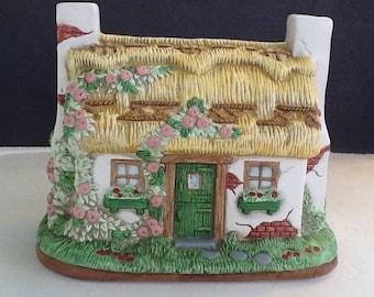 English Garden Music Box~George Z Lefton China~1994~Large Music Box~VintageMusic Box~Very Detailed~Plays Beautiful~Perfect Condition~Quaint~