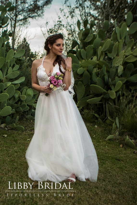 Wedding Bridal Inspired Cross Straps Spaghetti Criss Wedding Look Vintage V Back Fairytale Dress with Ivory Deep qE4SCwx