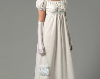 Sewing Pattern Butterick 6074-Regency Gown/Dress-Pride n Prejudice Gown- Size 6-14