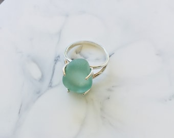 Barcelona Sea Glass Statement Ring